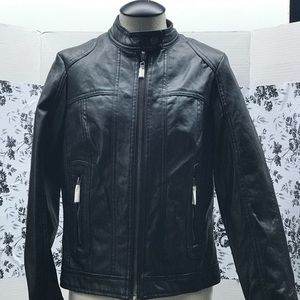 Faux leather bike inspired jacket Size S